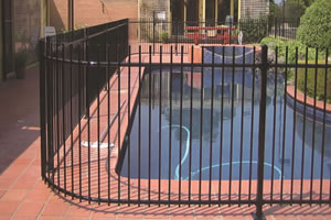 Black Coated Swimming Pool Safety Fence