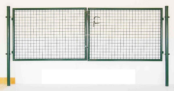 Green Coated Welded Wire Mesh Gate for Garden Fence