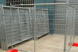 PVC coated temporary fence
